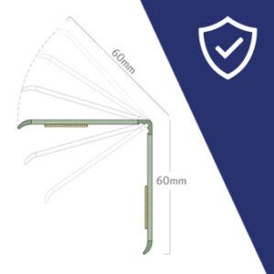 Adjustable custom variable corner guard protector for all corner angle degree sizes