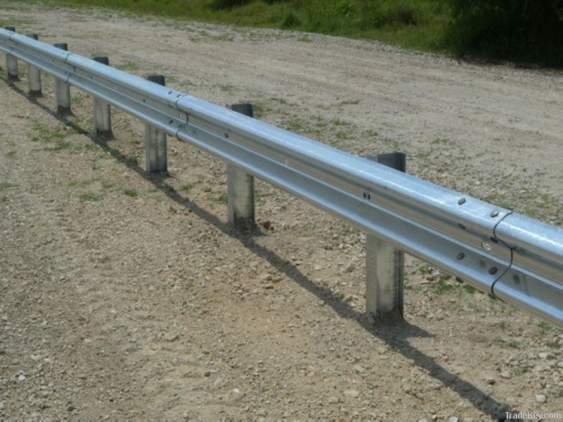 Armco barrier cast in rsj posts store vision ltd