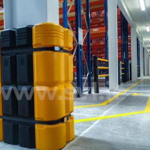 Extra large Column wrap adjusted for larger column, black and yellow high-viz