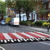 Rubber zebra / pelican crossing for Irish pedestrian road safety