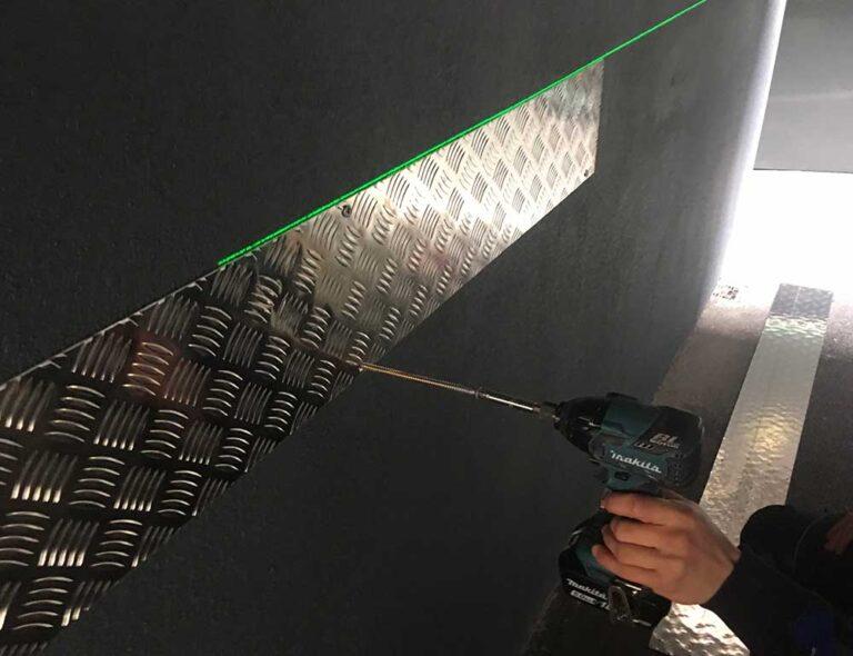 checker-plate-wall-protection-installation-ireland-near-me