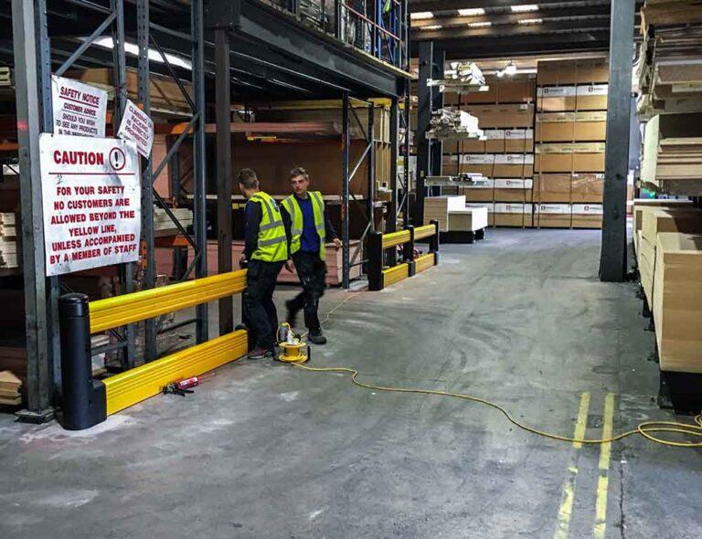 warehouse-forklift-barrier-yellow-installation-ireland-near-me
